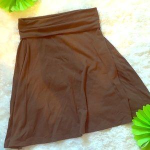 🦋 brown cotton skirt